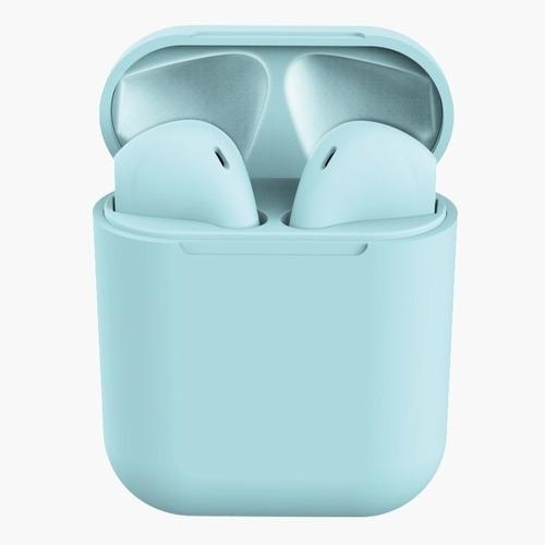 Fone Bluetooth Tws Macaron 12 Azul Android E Ios