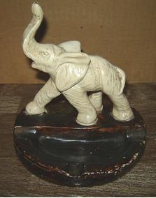 Ornamento De Mesa Elefante Peça Antiga Anos 80