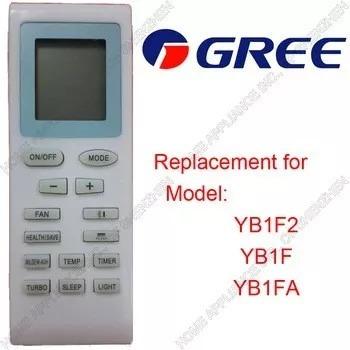 Controle Remoto Para Ar Condicionado Gree Yb1f2 Yb1f Yb1fa