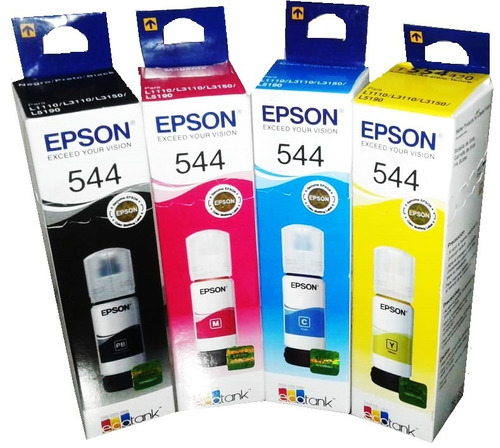 Tintas Epson Original T544 -  ( 1 Por Color)