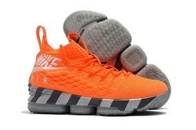 Tenis Nike Lebron 15 Orange Box Original Leia O Anúncio