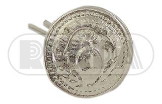 Botón Pin Metálico Plateado Con Escudo Patrio 10 A 12mm