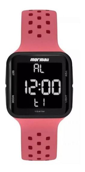 Relógio Feminino Mo6600ae/8t Digitalrosa Pretomormaii