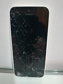 iPhone 5c Tela Quebrada Para Retirar Peças