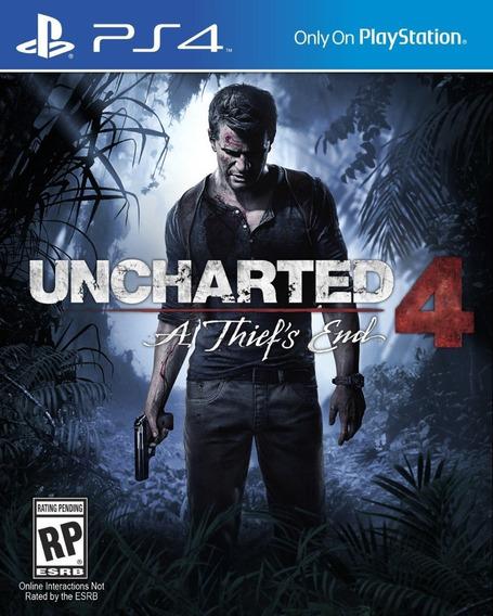 Uncharted 4 A Thiefs End Ps4 Mídia Física, Blu-ray