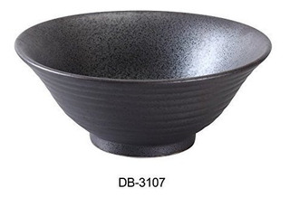 Colección Yanco Db3107 Diamond Black 75 Ramen Bowl 30 Oz 32