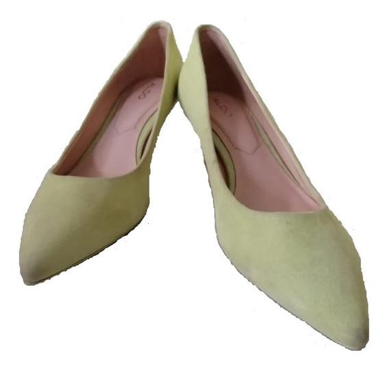 Zapatos De Tacon Corto Aldo Piel De Cabrito