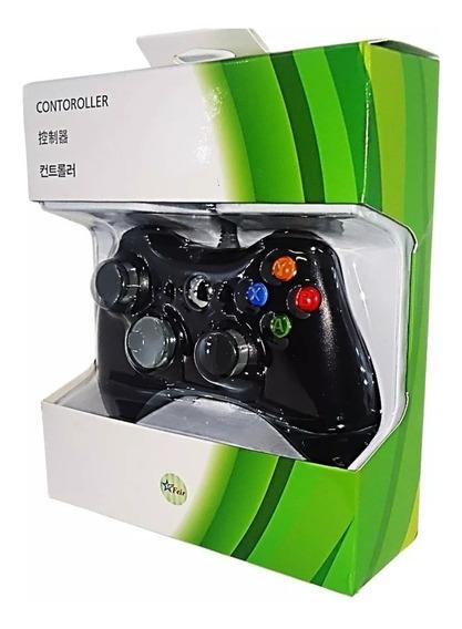 Controle Joystick Com Fio Xbox 360 Slim Pc Computado