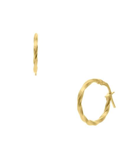 Arracadas Bizzarro Oro Amarillo Espiral Chica 14k-or41814y