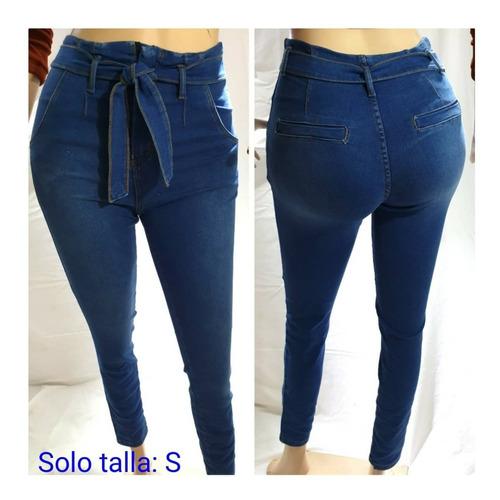 Pantalon Jeans Para Damas Corte Medio Y Alto Efecto Faja Mercado Libre