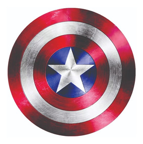 Placa Elipse Escudo Capitao America - 69 Cm Diâmetro