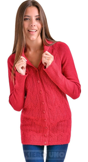 Cárdigan Mujer Con Botones Saco Sweater De Lana Kierouno