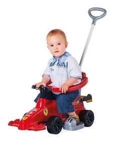 Carrinho De Passeio De Bebe Formula 1 Com Som De Ferrari