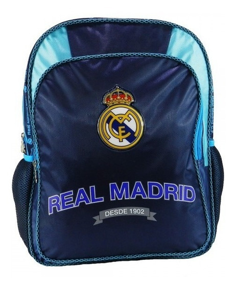 Mochila Primaria Real Madrid Futbol Ruz Juvenil Soccer Full
