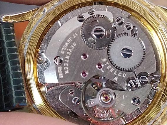 Reloj Steelco Antiguo De Cuerda 17 Joyas Suizo