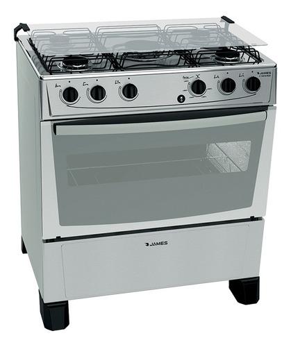 Cocina James C 150 B Inox 5 Hornallas E.electrico Termocupla
