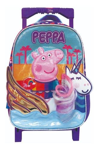 Mochila 12'' Con Carro  Peppa Pig  Pp496