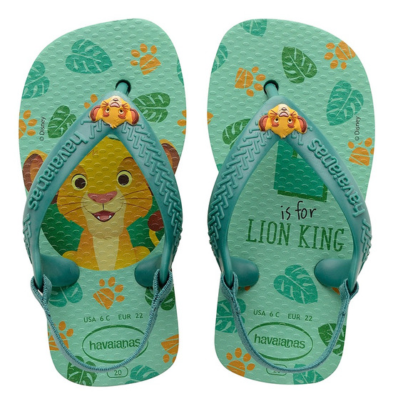 Chinelo Havaiana Baby Disney Clas Leao Lion Colecao 2020