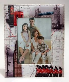 Portaretrato Cuero Simil 3 Diseño P/ Foto 15x20 Cm Londres