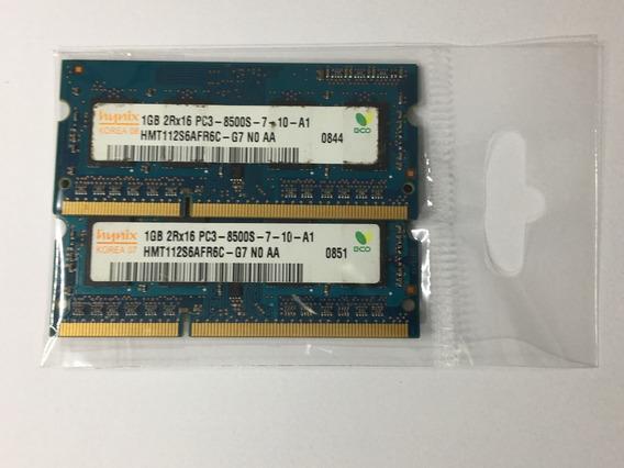 Memória Ram Hynix 2gb 1x1gb 1066mhz Macbook 109