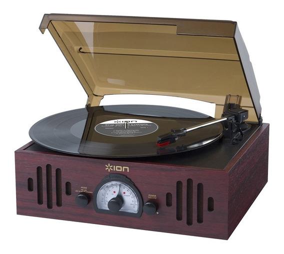 Toca-discos Vinil Ion Triolp C/ Alto-falantes, Rádio Am/fm