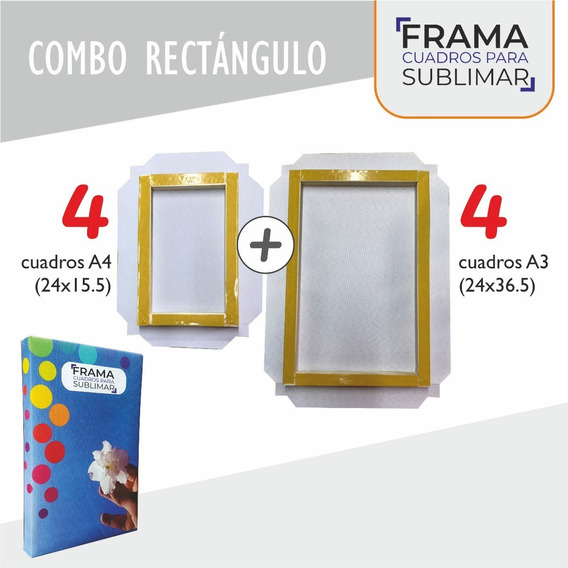Combo Rectangulo Cuadros Sublimables Frama