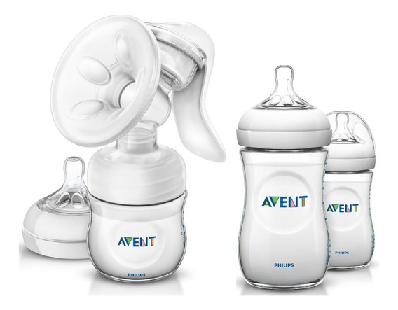Set Sacaleche Extractor Manual 2 Mamaderas 260ml 330ml Avent