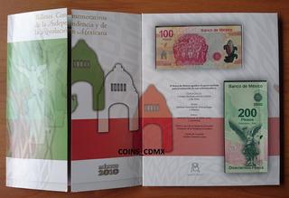 Banxico Billete Bicentenario Centenario 200 & 100 Herman