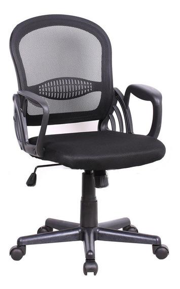 Cadeira De Escritório Secretária Arezzo Preta
