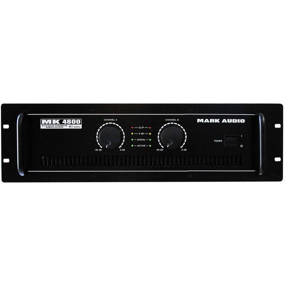 Amplificador De Potência Mark Audio Mk4800 800w - Mk 4800