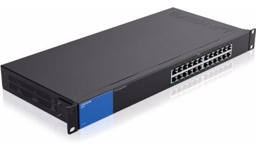 Imagen 1 de 4 de Switch Gigabit Poe+ 24 Puertos Linksys Lgs124p No Adm