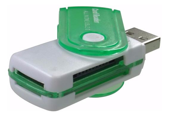 4 Leitor Usb Gravador Adaptador Cartão Memória Sd Micro Sd