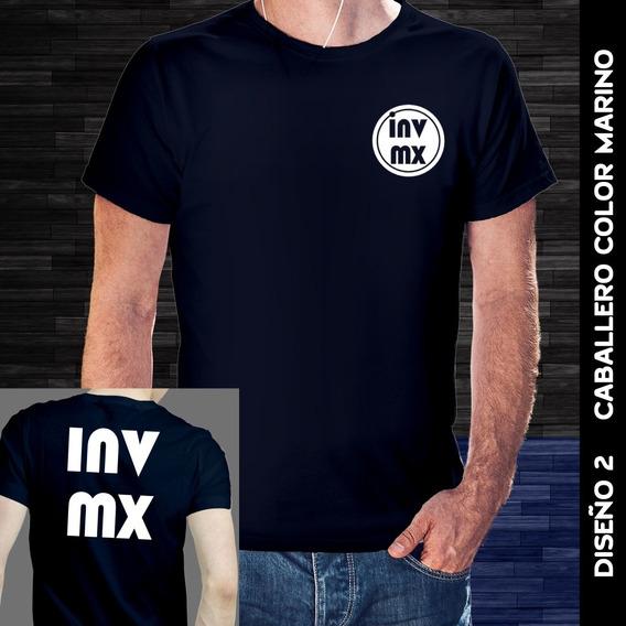 Playera Inversionistas Mx (diseño Inv Mx, Color Azul Marino)