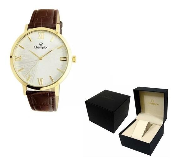 Relógio Feminino Champion Pulseira De Couro Ref. - Cn20604b