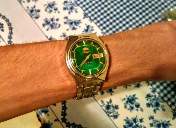Orient Antigo Raro Modelo Com Dois Tons De Verdes, Impecável