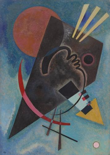 Imagem 1 de 1 de Poster Foto Hd W. Kandinsky 50x70cm Obra  Pointed And Round
