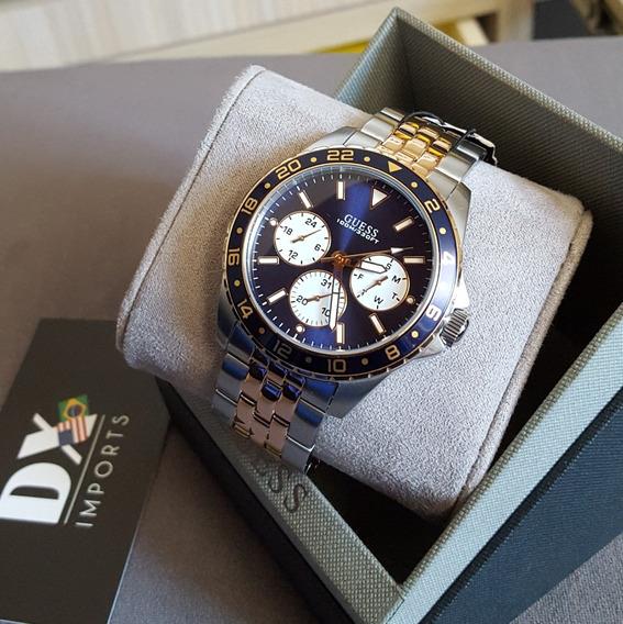 Relógio Masculino Guess Rose/prata Original