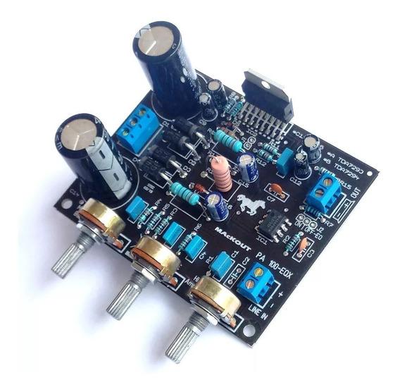 Placa Amplificador 100w Pa100eqx3 Mackout Tda7294