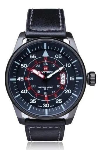Relógio Masculino Naviforce 9044 Estilo Militar Wr 30m Preto