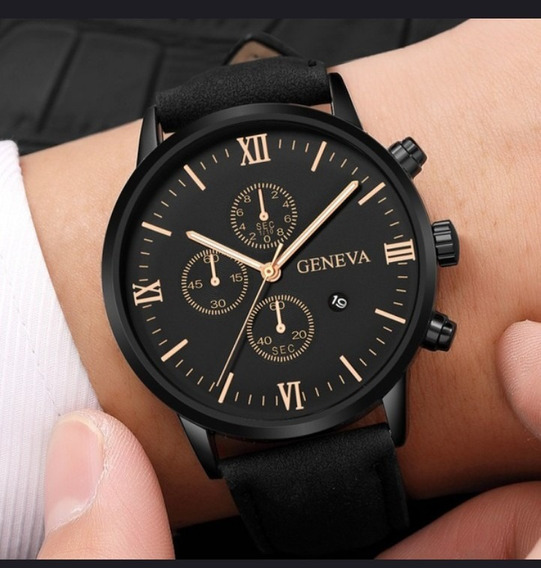 Relógio Geneva ! Excelente Qualidade Material Importado.