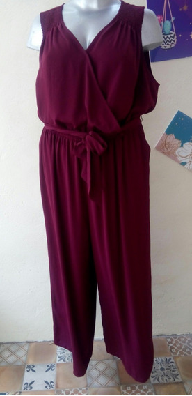 Palazzo Jumpsuit Mujer Elegante Talla 2xl (20w ) 38-40