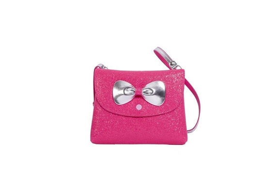 Bolsa Infantil Princesa Pink Bolsa Carteira Glitter Pink