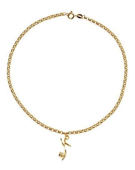 Tornozeleira Ouro 18k Com Pingente De Sapato - Cod.12779