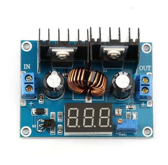 Regulador De Tensão Entrada Dc 4~40v 8a Conversor Dc-dc Step Down C/display Fonte Ajustável
