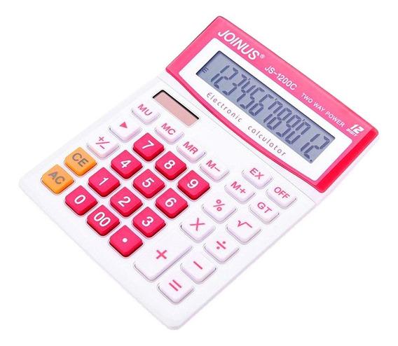 Calculadora De Mesa Eletrônica Solar Escritório Js-1200c