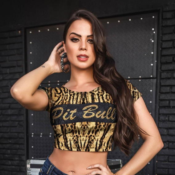Cropped Feminino Pit Bull Jeans 30694