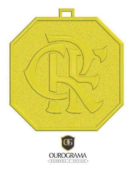 Pingente Flamengo (4x4 Centímetros) Em Ouro18k 750