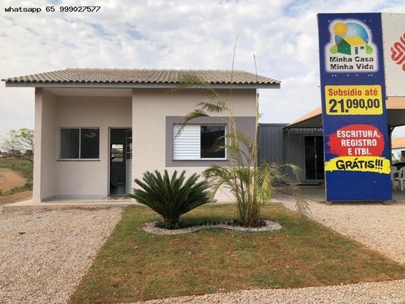 Casa Para Venda Em Cuiabá, Osmar Cabral, 2 Dormitórios, 1 Banheiro, 2 Vagas - 55_1-1215267