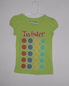 Twister Playera Verde Del Juego Twister 100% Original 5 Años