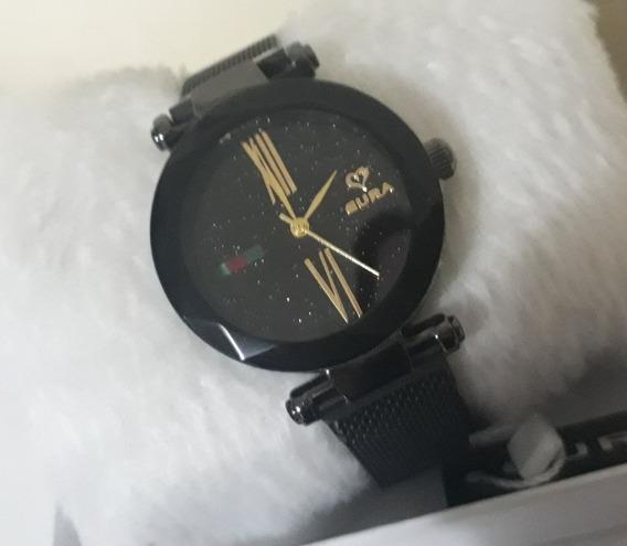 Lindo Relógio Feminino Eura Pulseira Imã Confira Exclusivo